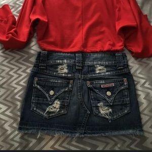 """Hudson jean skirt size xs , 24"""" waist"""